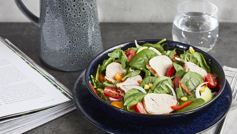 Pork Tenderloin with Spring Salad