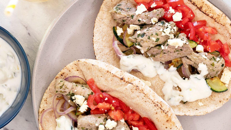 Greek Pork Gyros Pitas